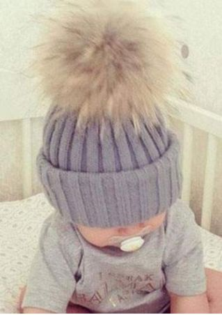Pompon Double Knitted Warm Hat
