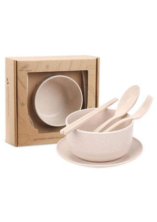 4Pcs/Set Children Eco-Friendly Dinnerware Cup Bowl