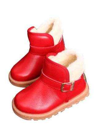 Children Buckle Winter Snow Boots