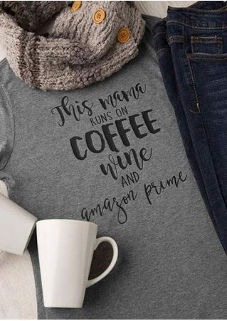 This Mama Runs On Coffee T-Shirt