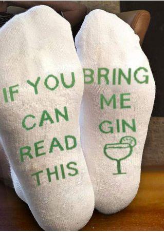 Bring Me Gin Comfortable Socks