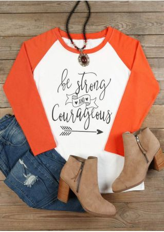 Be Strong And Courageous Baseball T-Shirt