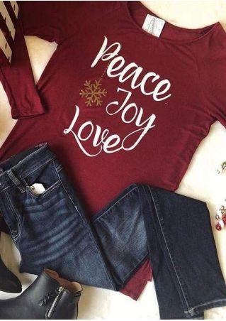 Peace Joy Love Snowflake T-Shirt