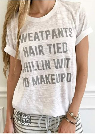 Sweatpants Hair Tired Chillin T-Shirt
