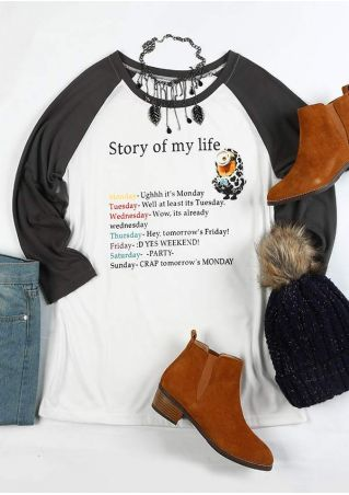 Story Of My Life Baseball T-Shirt