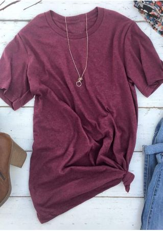 Solid Short Sleeve T-Shirt