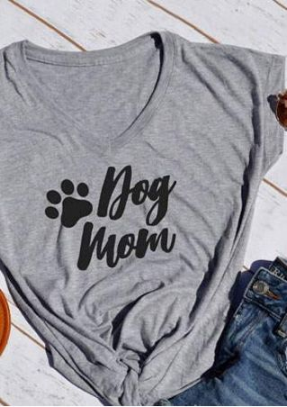 Dog Mom Paw Short Sleeve T-Shirt