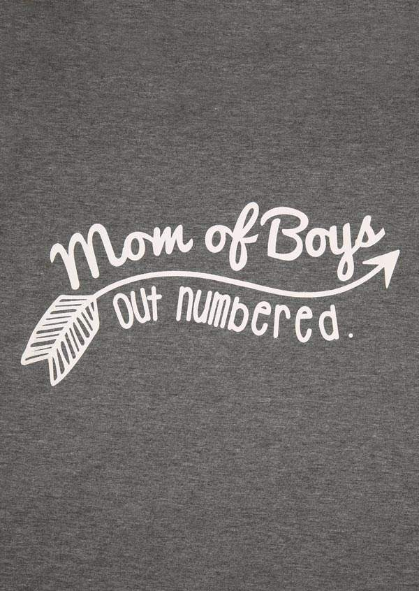 Mom Of Boys Out Numbered T Shirt Bellelily