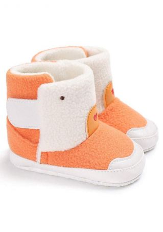 Baby Color Block Hook & Loop Warm Boots