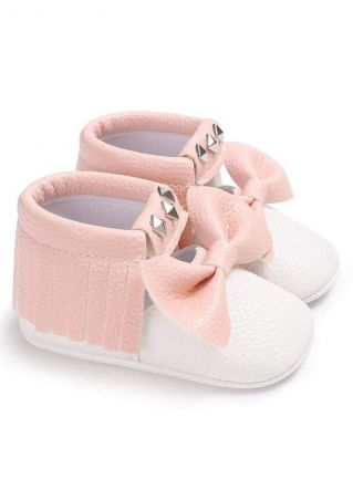 Baby PU Bowknot Rivet Shoes
