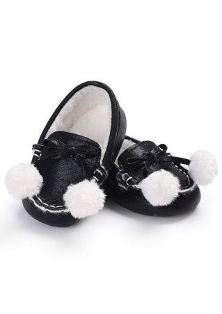 Baby Pompon Bowknot Warm Shoes
