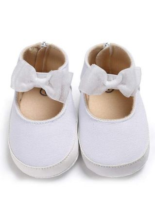 Baby Bowknot Canvas Soft Shoes