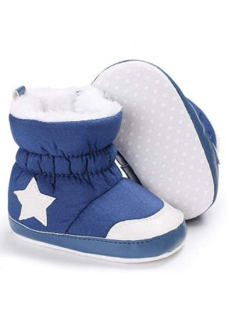 Baby Star Color Block Warm Boots