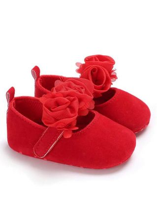 Baby Solid Flower Soft Shoes