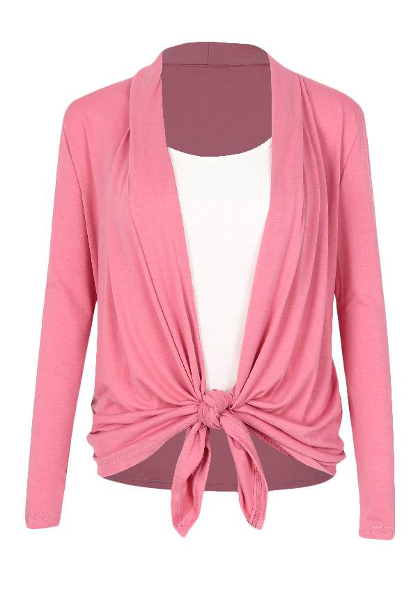 Solid Cardigan and Camisole Set