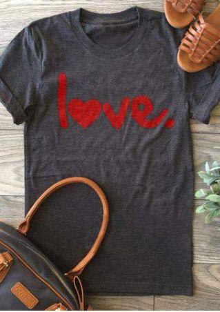 Love Heart Short Sleeve T-Shirt