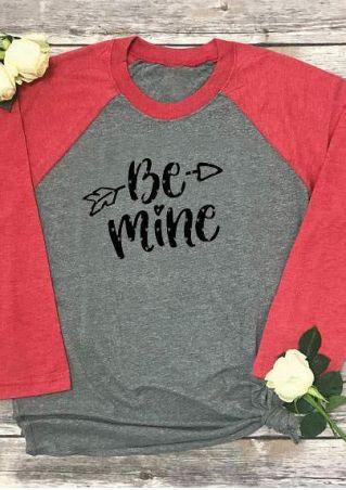 Plus Size Be Mine Arrow Baseball T-Shirt