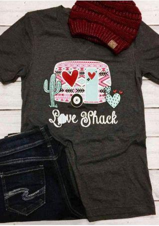 Love Shack Cactus V-Neck T-Shirt