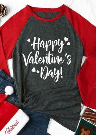 Happy Valentine's Day Heart Baseball T-Shirt