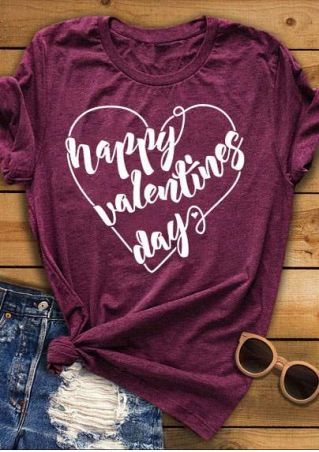 Happy Valentines Day O-Neck T-Shirt
