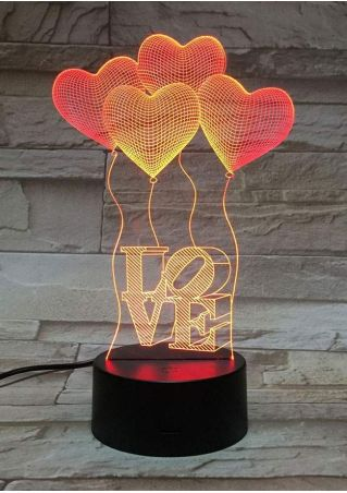 Love Heart Balloon Table Lamp