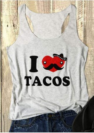 I Love Tacos O-Neck Tank