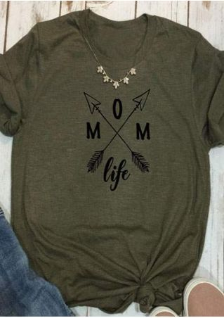 Mom Life Arrow O-Neck T-Shirt