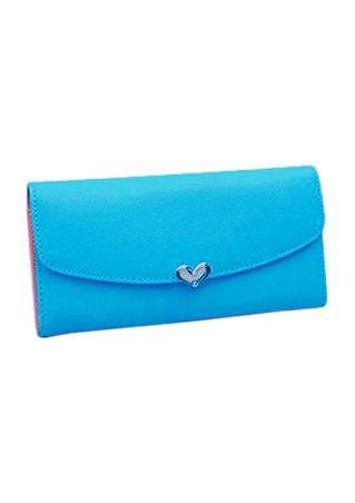 Solid Heart Clutch Wallet