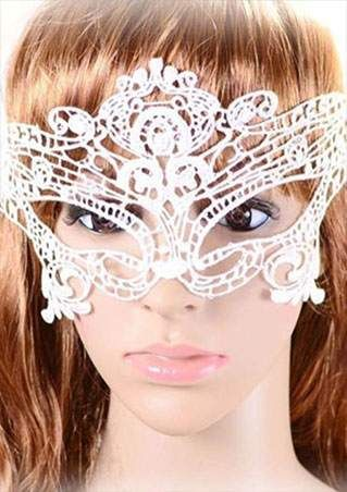 Solid Lace Hollow Out Mask