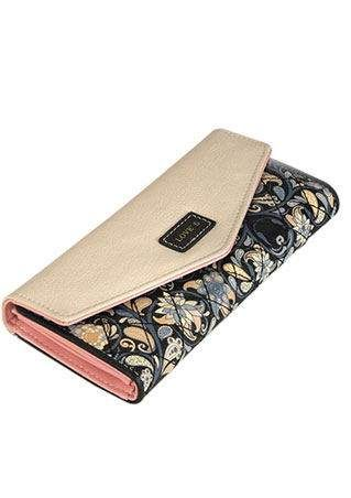 Envelope Floral Printed Long Wallet