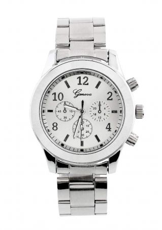 Stainless Steel Band Quartz Wrist Watch