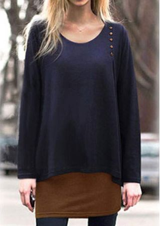 Layer Long Sleeve Casual Blouse
