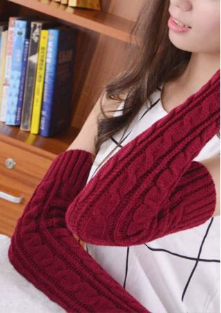 Knitted Long Fingerless Gloves