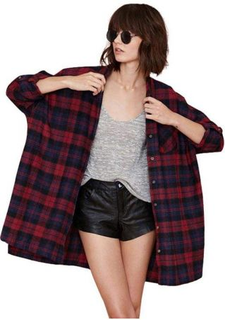 Plaid Button Casual Shirt