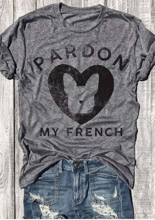 Pardon My French Heart T-Shirt
