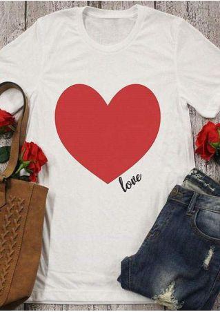 Heart Love Short Sleeve T-Shirt