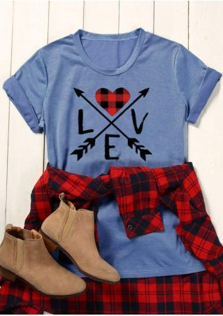 Love Arrow Heart O-Neck T-Shirt