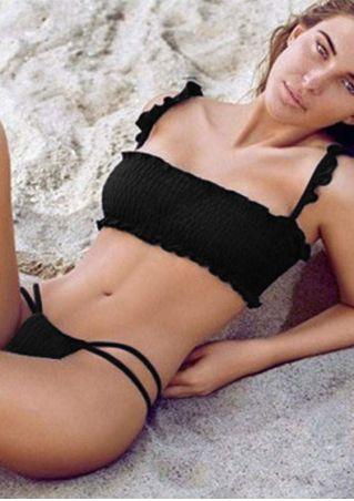 Solid Sexy Bikini Set