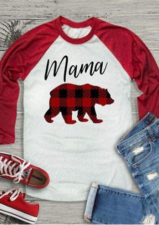 Mama Bear O-Neck Baseball T-Shirt