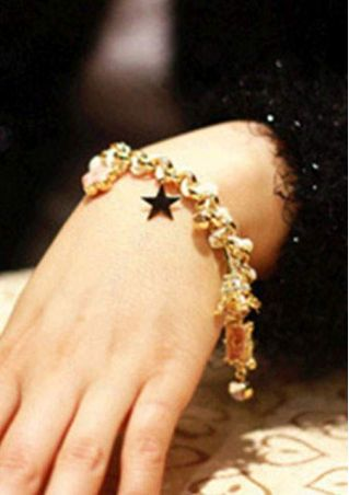 Imitated Crystal Star Tower Bracelet