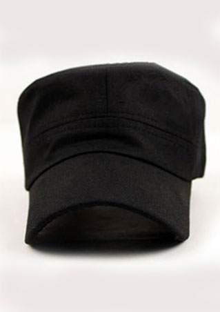 Solid Buckle Army Style Baseball Hat