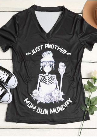 Just Another Skull Floral T-Shirt