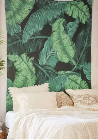 Leaf Printed Rectangular Tapestry