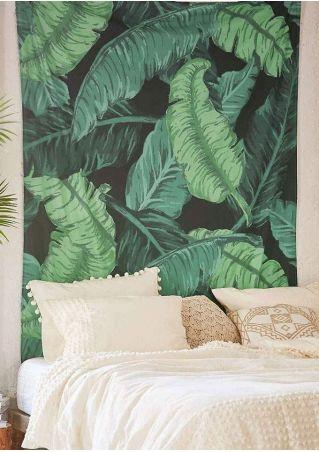 Leaf Printed Rectangular Tapestry