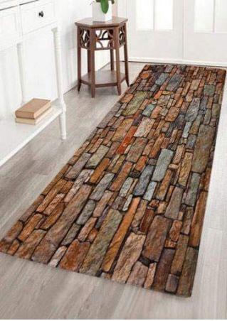 Brick Pattern Floor Rug