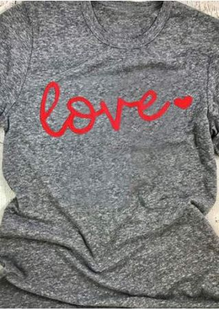 Love Heart Short Sleeve T-Shirt