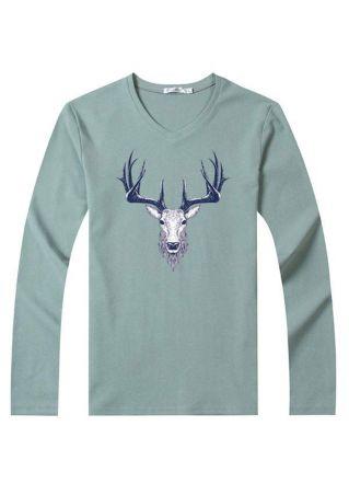 Reindeer Printed T-Shirt