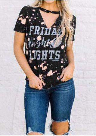 Friday Night Lights Cut Out T-Shirt