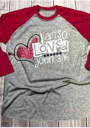 I Am So Loved Baseball T-Shirt