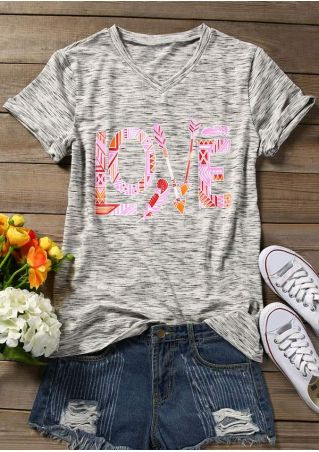 Love Arrow V-Neck T-Shirt